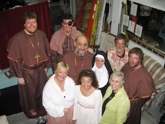 The Incorruptible cast, clockwise, from upper left; Eric Rolfe, Justin Ahearn, Arnie Steinmetz, Valerie Taylor, Alan Andrews, Martin Dullis, Marilyn Tempest, Maria Luther and Annie Miners
