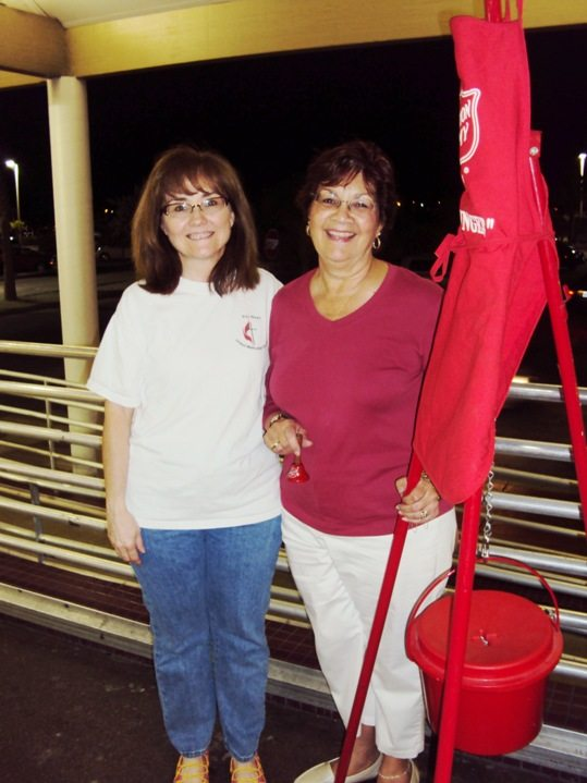 Susan Hamm (left) and Chobie Oropeza (right) outside of Publix this week collecting change and bills from members of the community. The two ladies represent Key West United Methodist Church. Chobie has been volunteering her time for the Salvation Army's mission for ten years!