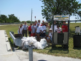 Key West High School cleanup at Spanish Harbor Bridge