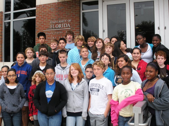 Take Stock In Children and the Florida Sheriffs Youth Ranches participated in the fifth annual Crossroads Adventure Camp experience. From December 12th through December 17th all newly signed seventh and eighth grade Take Stock In Children scholars from Monroe County Schools traveled to the Sheriff's Youth Camp in Inglis, Florida. Mrs. Katrina Wiatt, Assistant Project Coordinator for Take Stock In Children accompanied the group on their weeklong journey
