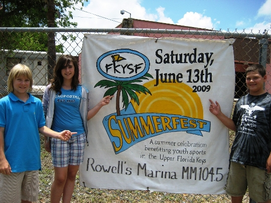 PKS artists painted banners for the June 13th SummerFest