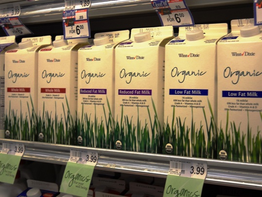 Though choices for organic foods in the Keys are severely limited and most often more expensive, corporate grocers like Winn Dixie are responding to the consumers' growing demands for organic milk, meats and produce.
