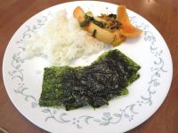 Rice, Kimchi, and Roasted Seaweed