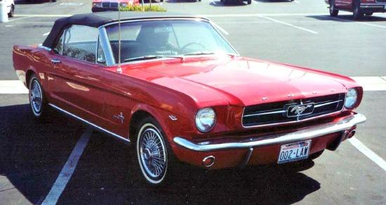 A 1964 Ford Mustang