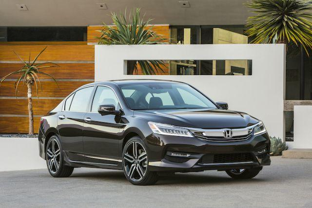 The 2016 Honda Accord earned the IIHS top ranking.