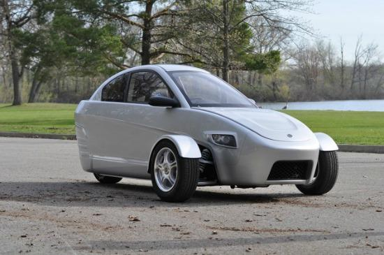 An early prototype of the Elio Motors' three-wheeler.