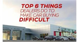 Top 6 things dealers to to make car buying difficult.