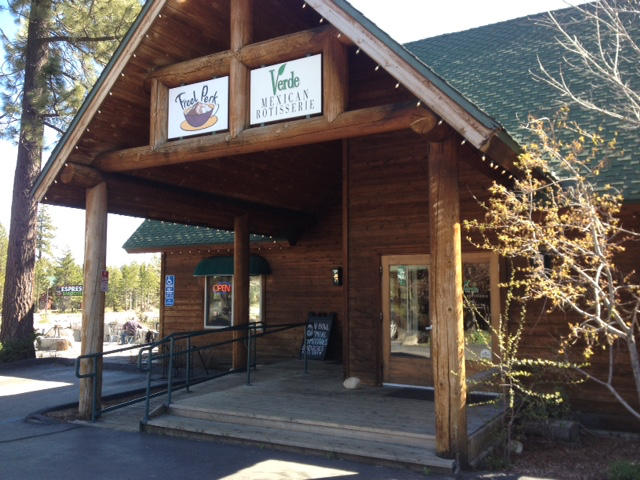 The Freel Perk Coffee Shop is located in Meyers, California, a hundred yards from the California-Nevada agricultural border check.