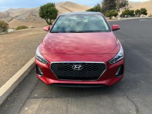The 2018 Hyundai Elantra GT Hatchback has a European exterior design.