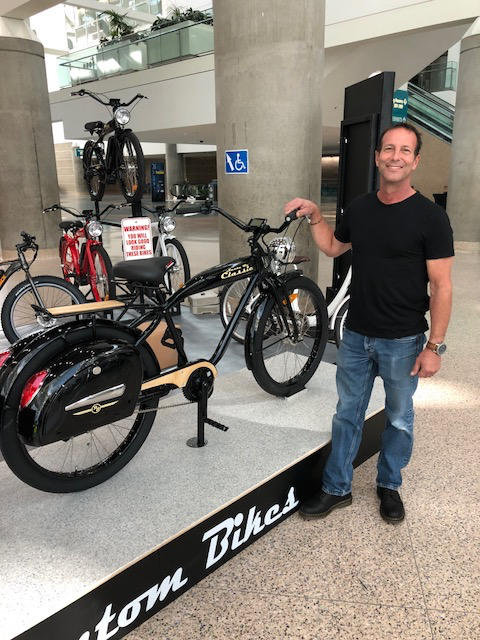 John King of Phantom Bikes, a high-end electric bicycle company.