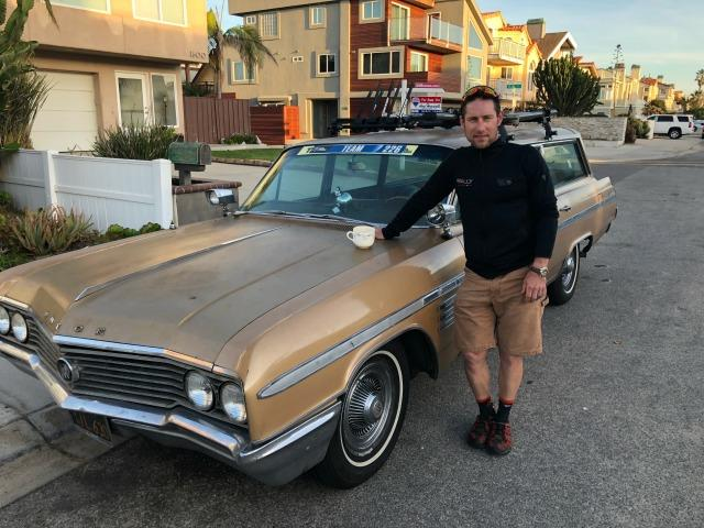 Eric Wohlberg and beloved 1964 Buick LeSabre estate wagon.