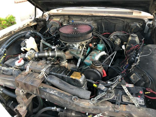 The creatively done, makeshift engine of the Eric Wohlberg's 1964 Buick LeSabre estate wagon.