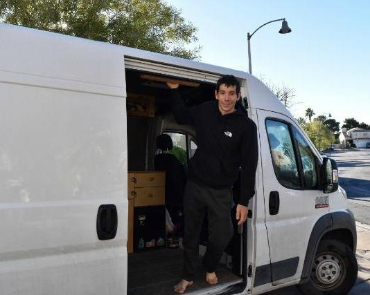 Climber Alex Honnold enjoys life on the road in his RAM Pro Master cargo van.
