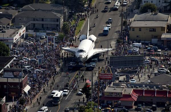 Moving the Endeavor Space Shuttle is a massive project