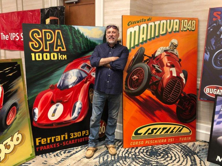 Artist Robert Carter of Carter Artworks had some of his work displayed at Monterey Automobilia.