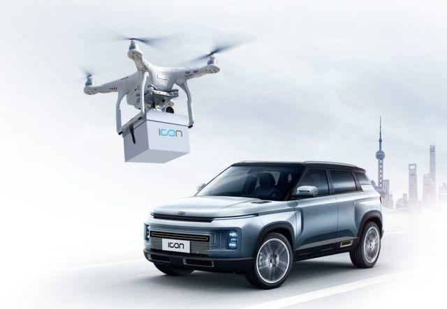 Geely has begun delivery the keys of newly purchased cars via drone.