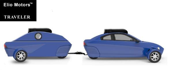 The Elio 3-wheeler will have a trailer hitch option.