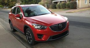 The 2016 Mazda CX-5 features a 185 horsepower, 4-cylinder engine.