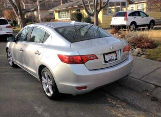 The 2014 Acura ILX has a Euro-style angled roofline.