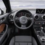 The 2015 Audi A3 has a sports car-like interior.