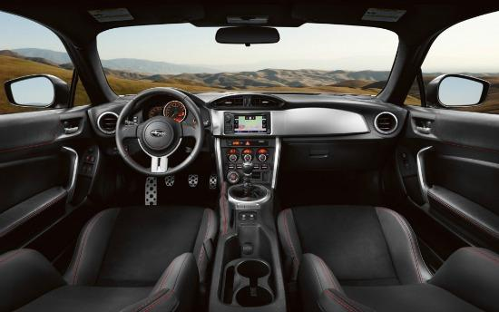 The sleek, high-performance interior of the 2015 Subaru BRZ.