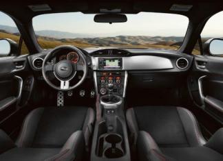 The sleek, high-performance interior of the 2015 Subaru BRZ.