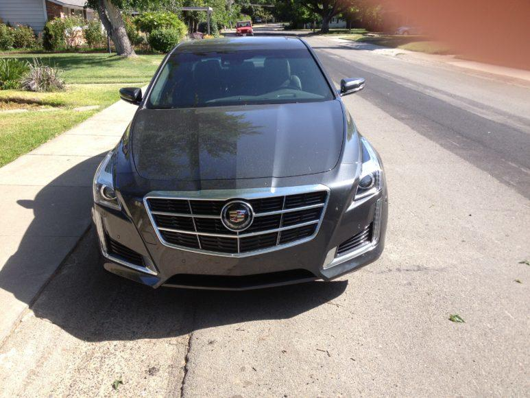 The 2014 Cadillac CTS has new font grille.