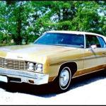 The 1973 fifth generation Chevrolet Impala.