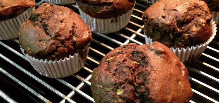 gluten-free chocolate zucchini muffins
