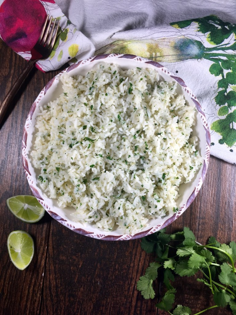 gluten-free, dairy-free cilantro lime rice