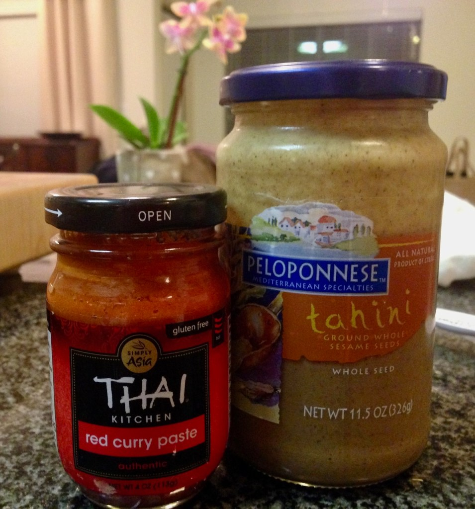 Thai Red Curry Paste and Tahini