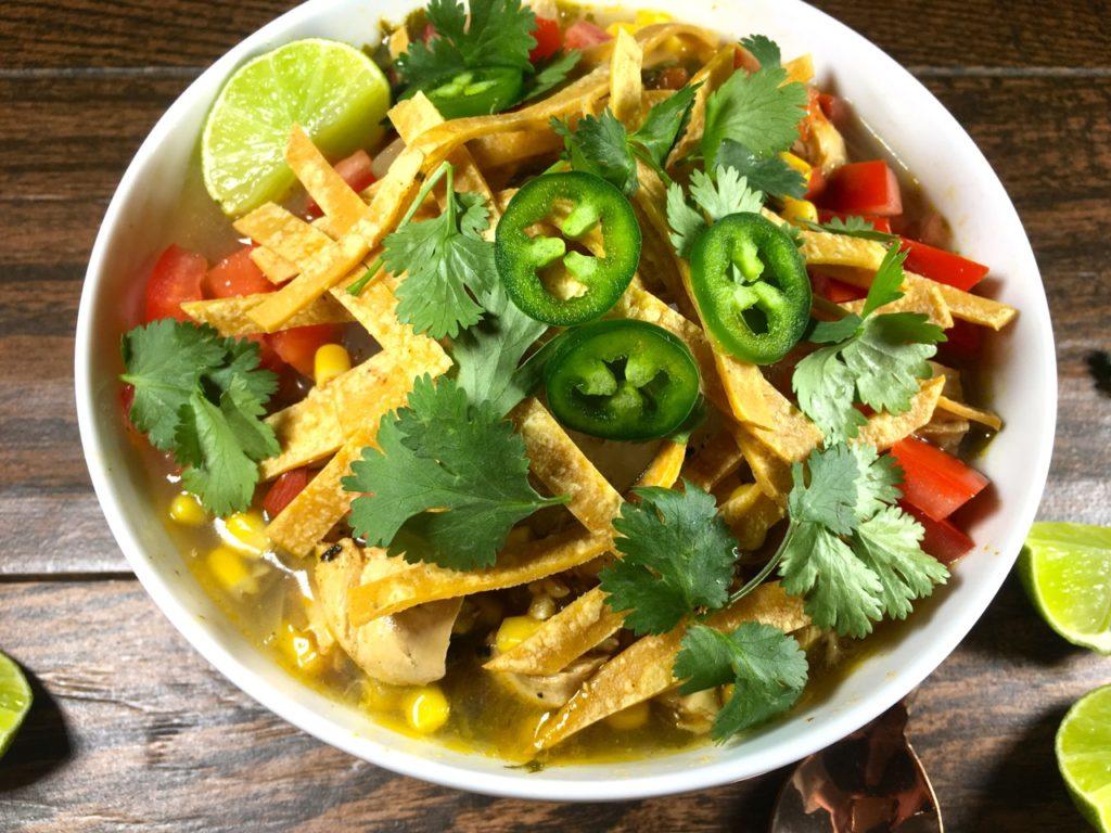 Chicken Tortilla Soup | Gluten-free, Dairy-Free