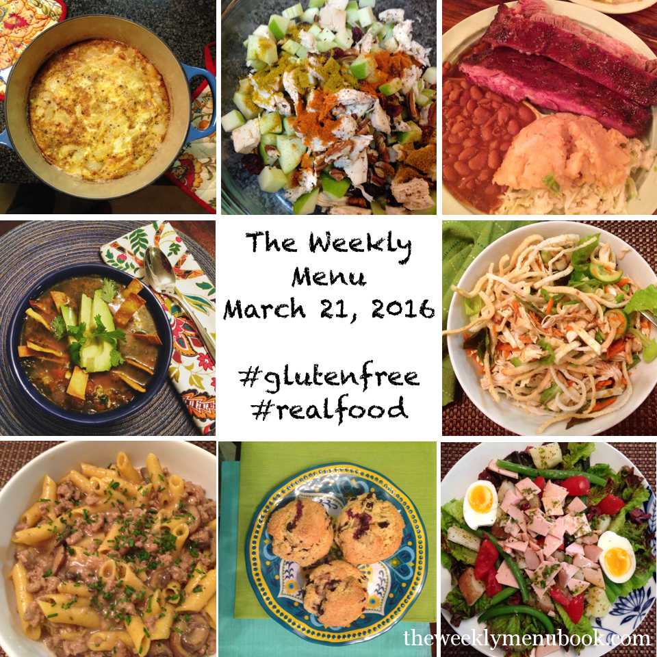 The Weekly Menu March 21