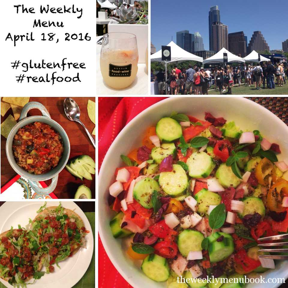 The Weekly Menu April 18