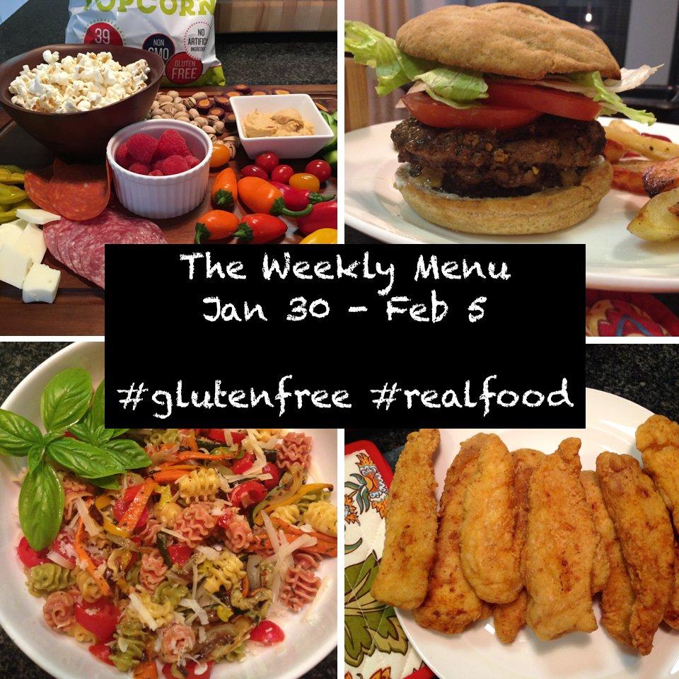 the gluten-free weekly menu Jan 30