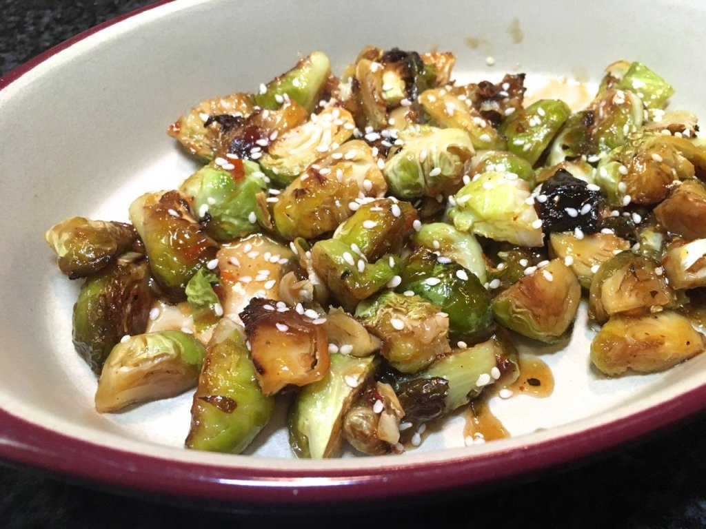 sweet Chili sauce roasted brussels sprouts