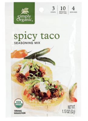 Gluten-Free Spicy Taco Seasoning Simply Organic