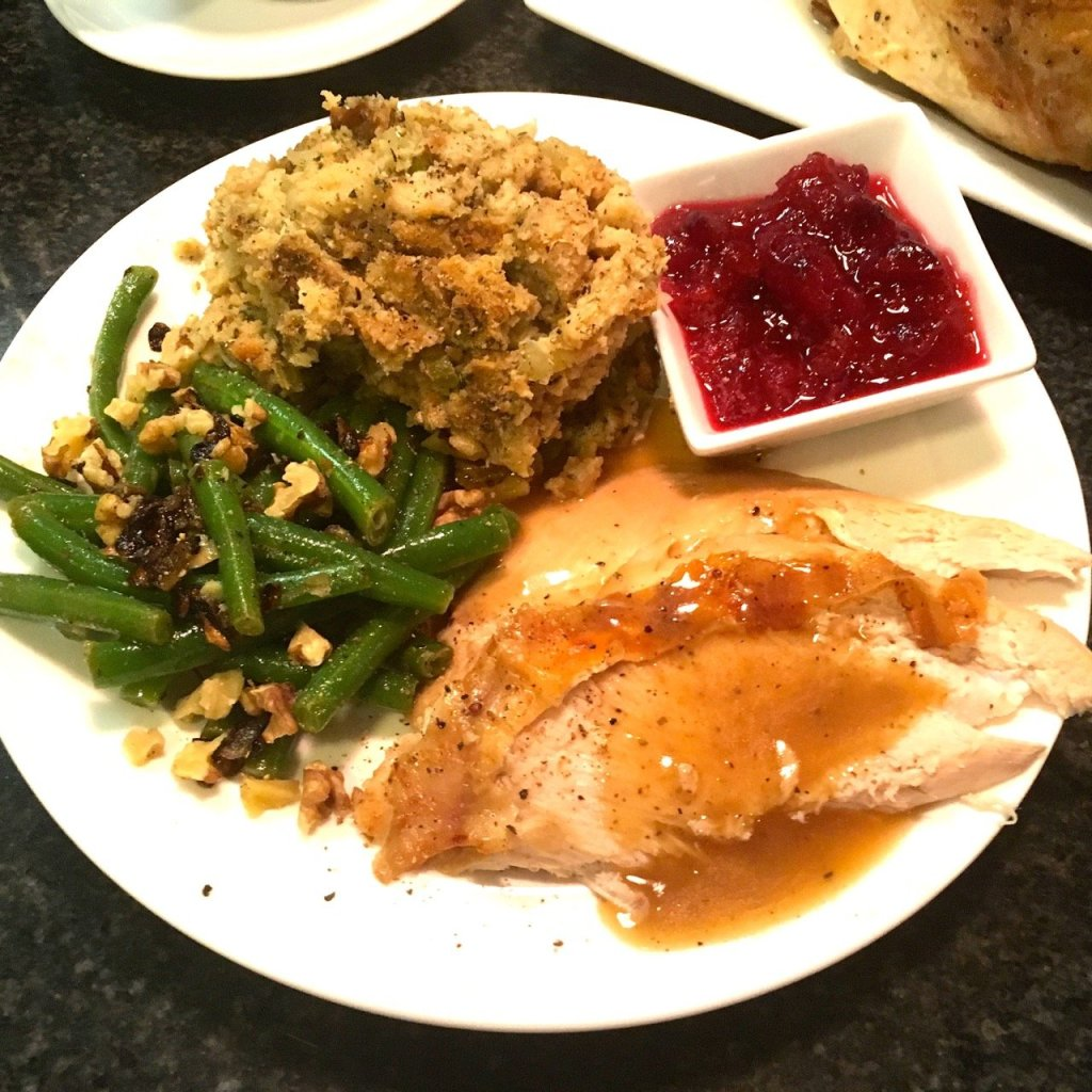 Turkey dinner plate for Thanksgiving