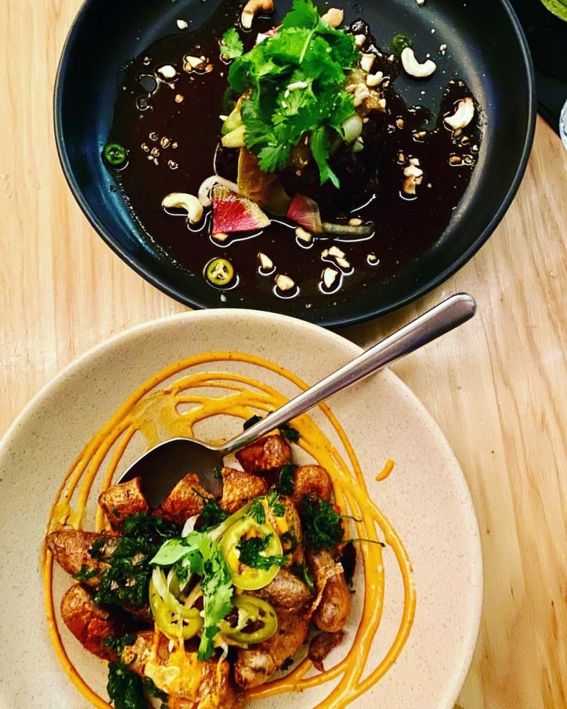 Austin gluten-free restaurants - Braised Beef Short Rib and Papas Bravas at ATX Cocina