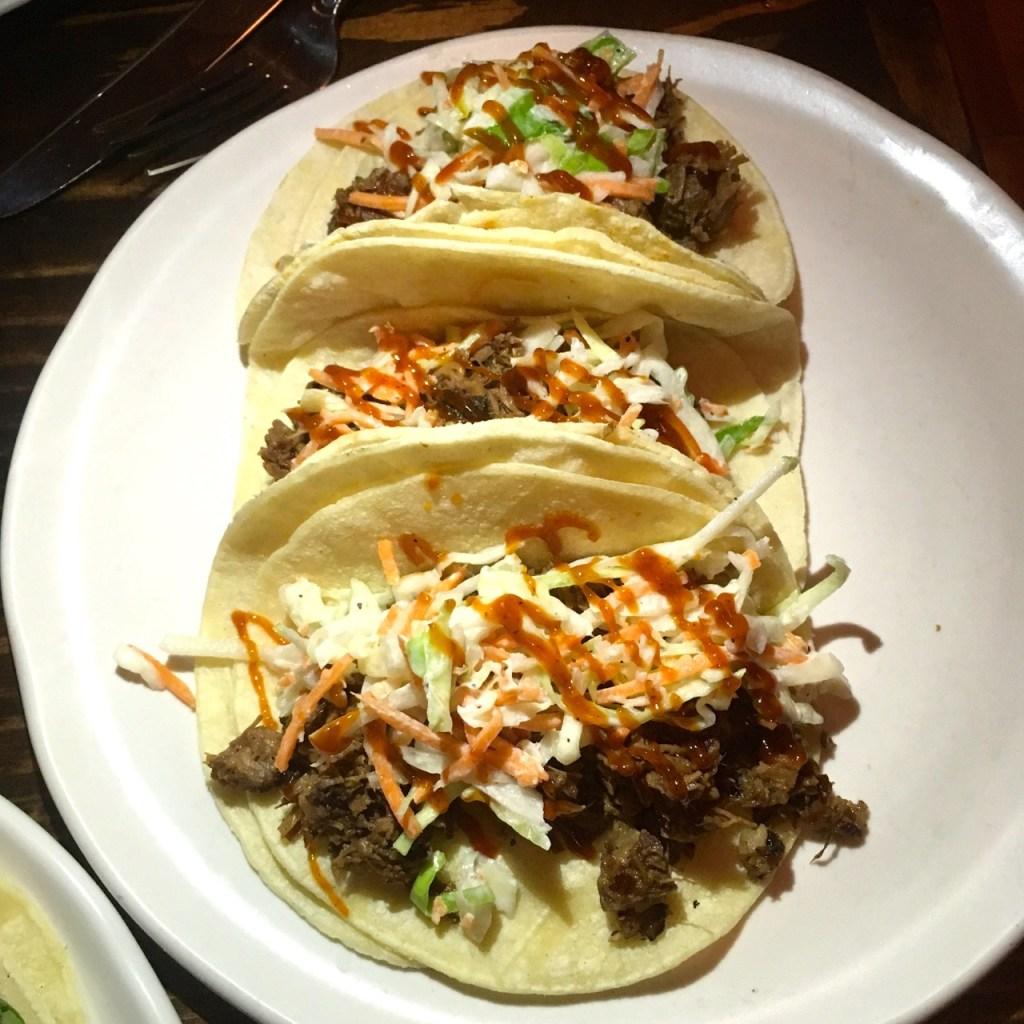 The Peached Tortilla Brisket Tacos