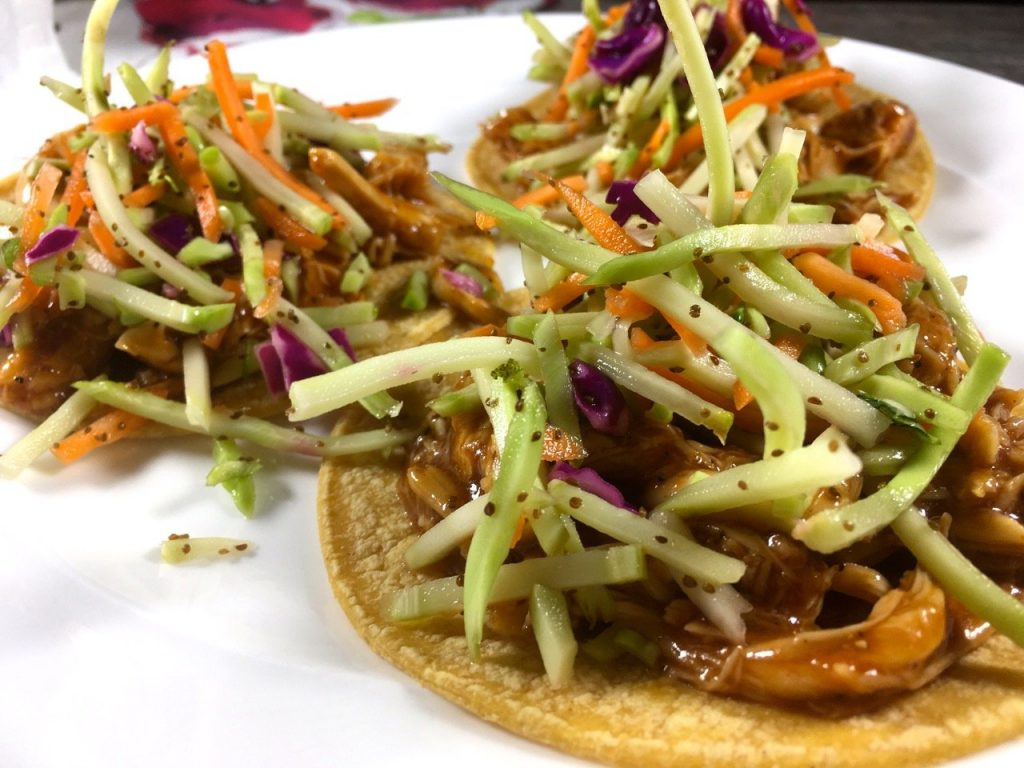 BBQ Chicken tacos made healthier using clean ingredients