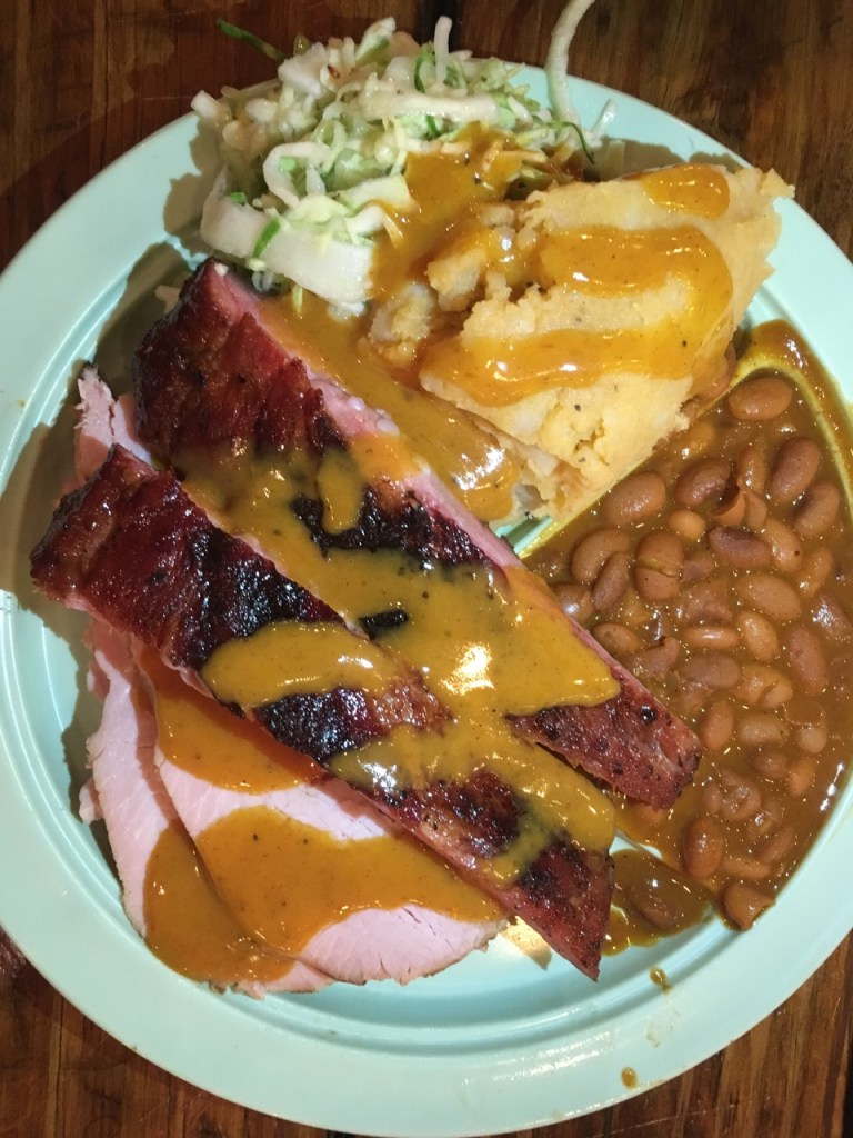 BBQ Plate from the Salt Lick