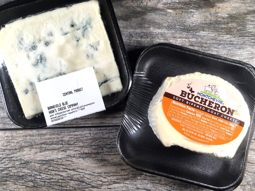 Hook's Cheese Company Goat Milk Blue Cheese & Montchevre Bucheron Soft Ripened Goat Cheese