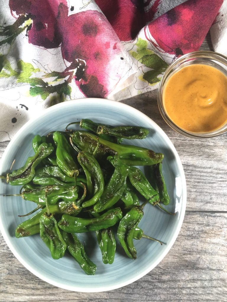 Shishito Peppers and Spiked Sir Kensington's Chipotle Mayo | Gluten-free, Dairy-Free