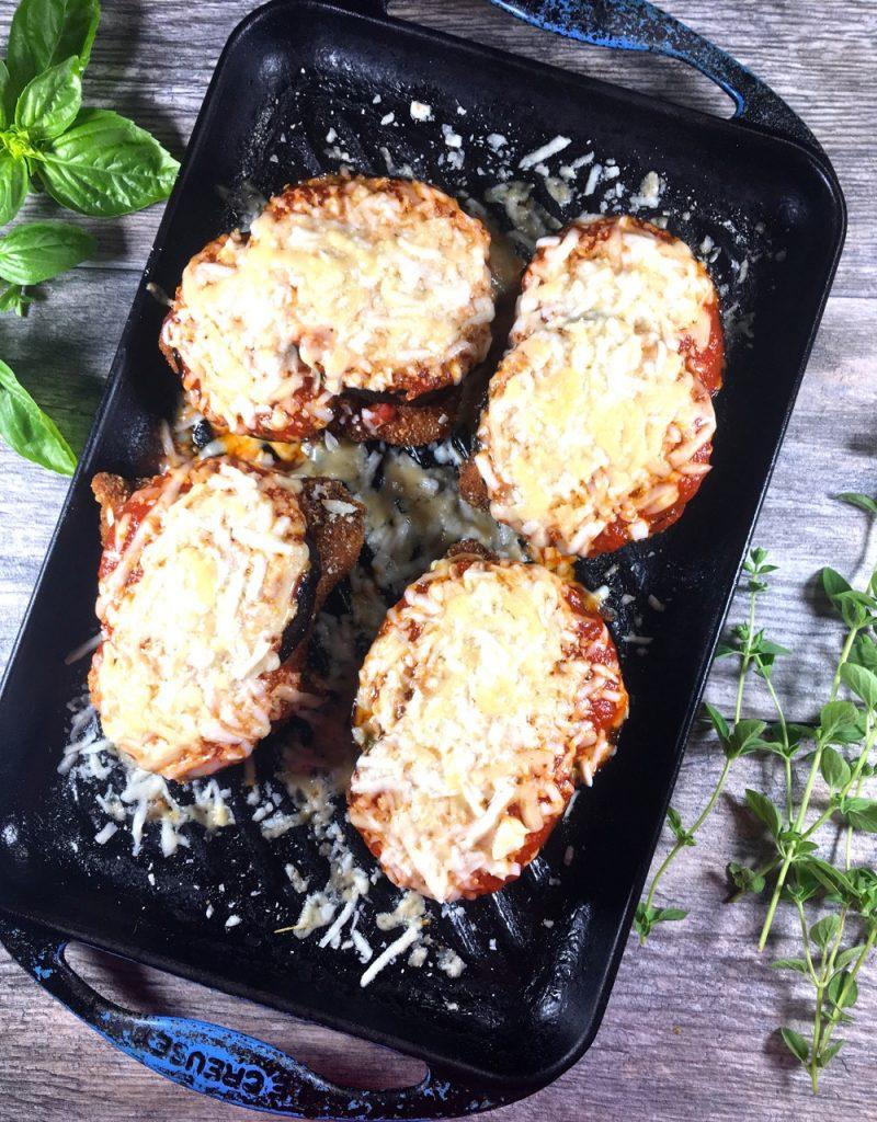 Gluten-Free Eggplant Chicken Parmesan