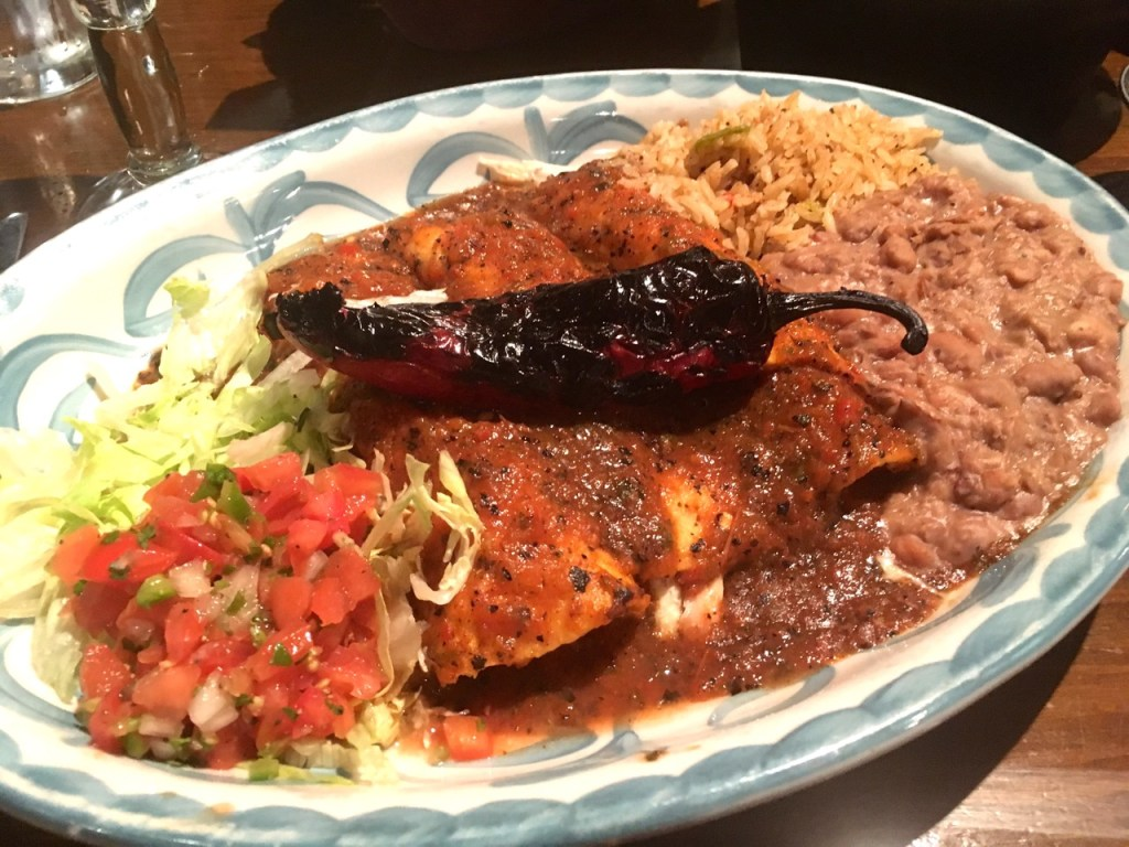 Spicy Chicken Enchiladas at Lupe Tortilla