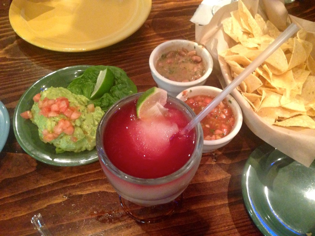 Lupe Tortilla Marg, Guac and Chips