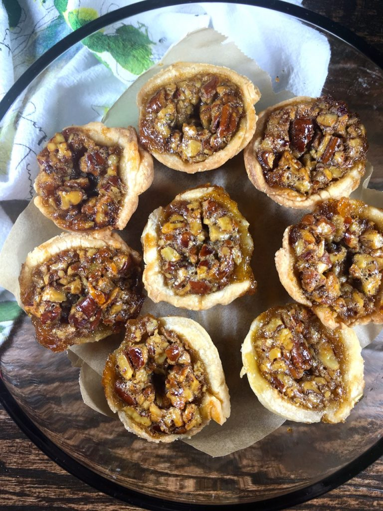 Mini Pecan Pies made with Schär gluten-free puff pastry crusts