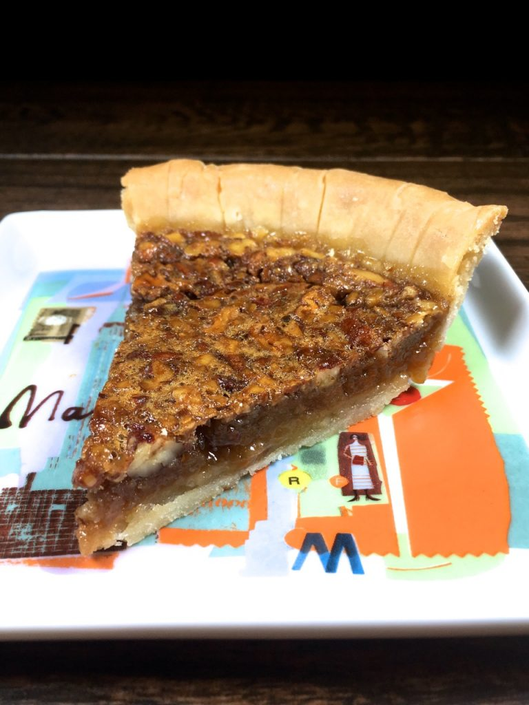 Gluten-Free Pecan pie made with goat milk butter and agave instead of corn syrup