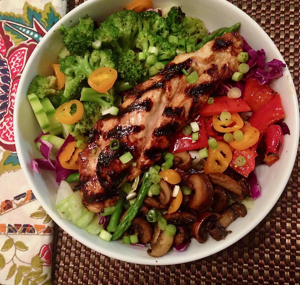 homemade teriyaki chicken salad